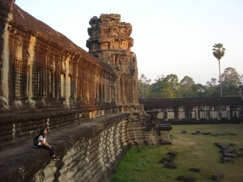 Being by myself in Angkor Wat
