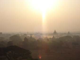 Sunrise at a pagoda, Bagan Myanmar